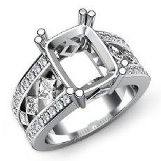 Princess Round Diamond Engagement Ring Radiant Semi Mount Platinum 950 (1.25Ct. tw.)