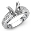 1.2Ct Princess Side Diamond Engagement Ring Channel Setting 14k White Gold Semi Mount - javda.com