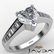 Channel Set Baguette diamond Ring 14k Gold White