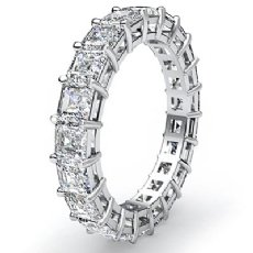 Asscher Cut Diamond Women's Eternity Wedding Band Ring Platinum 950  (3.55Ct. tw.)