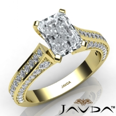 Cathedral 4 Prong Peg Head diamond Ring 14k Gold Yellow