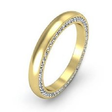 Dome Channel Round Diamond Side Eternity Men's Wedding Band 14k Gold Yellow  (1Ct. tw.)