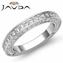 1.25ct Round Diamond Wedding Band Matching Set 14k White Gold