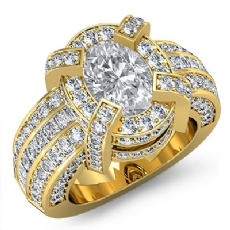 Oval diamond engagement Ring in 18k Gold Yellow