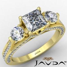 Princess diamond  Ring in 14k Gold Yellow