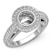 2Ct Diamond Vintage Engagement Halo Setting Ring Round Semi Mount 14k White Gold - javda.com