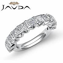 Princess Diamond V Prong Set Womens Half Wedding Band Ring 14k White Gold 2.2Ct