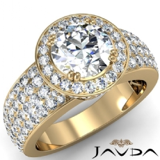 Round diamond engagement Ring in 18k Gold Yellow