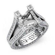 2.2Ct Diamond Eternity Engagement Split Shank Ring 14k W Gold Semi Mount Setting