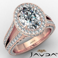 Oval diamond engagement Ring in 18k Rose Gold