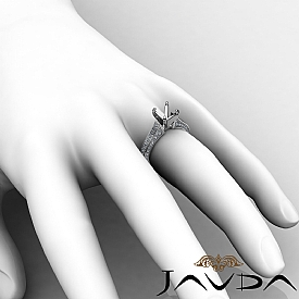 1 Ct Diamond Solitaire Engagement Round Semi Mount Ring Setting 14K White Gold