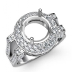 Diamond Engagement Round Ring 14k White Gold Halo Pave Setting Semi Mount 1.1Ct - javda.com