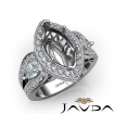 3 Stone Marquise Halo Diamond Engagement  Antique & Vintage Ring 14k White Gold Semi Mount 1.85Ct - javda.com