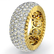 5 Row Women's Eternity Engagement Band 18k Gold Yellow Diamond Wedding Ring  (4Ct. tw.)