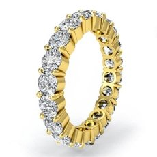 Women's Eternity Wedding Band 18k Gold Yellow Shared Prong Diamond Ring  (2Ct. tw.)