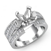 1.25Ct  Princess Diamond Semi Mount Engagement Ring 14k White Gold 4Prong Setting - javda.com