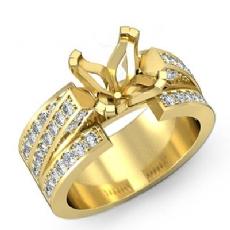 Princess Diamond Semi Mount Engagement Ring 14k Gold Yellow 4Prong Setting (1.25Ct. tw.)