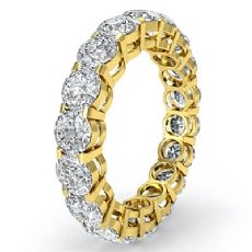 Round Diamond Eternity Wedding Band Anniversary Women's Ring 18k Gold Yellow  (3.6Ct. tw.)