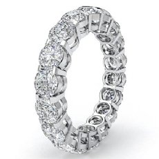 Round Diamond Eternity Wedding Band Anniversary Women's Ring 14k W Gold 3.60Ct