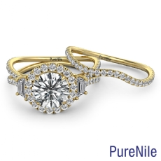 Round diamond  Ring in 14k Gold Yellow