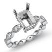 0.2Ct Diamond Engagement Eternity Ring Setting Platinum 950 Radiant Semi Mount - javda.com