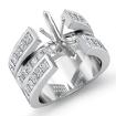 1.25Ct Marquise Diamond Engagement Ring Semi Mount Setting Channel 14k White Gold - javda.com