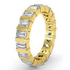Women's Wedding Eternity Band Baguette Bar Set Diamond Ring 18k Gold Yellow  (2Ct. tw.)