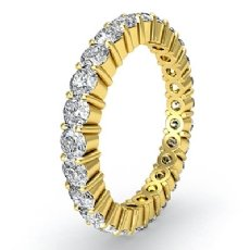Women's Shared Prong Diamond Ring Eternity Wedding Band 18k Gold Yellow  (1.5Ct. tw.)