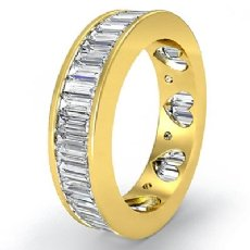 Baguette Channel Set Diamond Womens Eternity Wedding Band 18k Gold Yellow Ring  (3.5Ct. tw.)