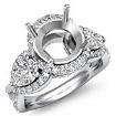 Three 3 Stone Diamond Anniversary Pear Round Semi Mount Ring 14k White Gold 1.4Ct - javda.com