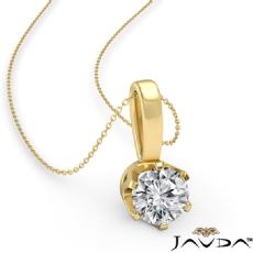 Round diamond  Pendant in 14k Gold Yellow