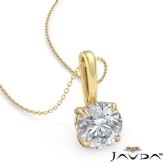 Claw Prong Filigree Basket Round diamond  Pendant in 18k Gold Yellow