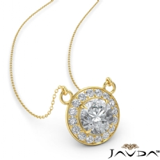 Round diamond  Pendant in 14k Gold Yellow