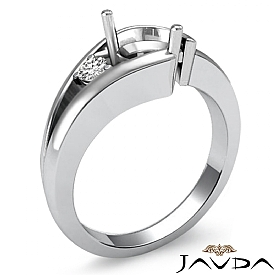 0.05Ct Diamond Solitaire Style Engagement Ring 14K White Gold Semi Mount Setting