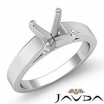 4g Cathedral Flat Edge Solitaire Semi Mount Engagement Setting 14k Wh Gold 3.5mm