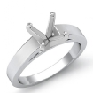 <Gram> Cathedral Flat Edge Solitaire Semi Mount Engagement Setting 14k White Gold 3.5mm - javda.com