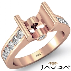 Wedding Diamond Women's Ring Bezel Setting 14k Rose Gold Round Semi Mount (0.5Ct. tw.)