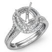 1.55Ct Diamond Engagement Ring 14k White Gold Halo Setting Cushion Cut SemiMount - javda.com