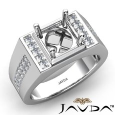 Men's Round Cut Pave Diamond Fashion Wedding 14k White Gold Solid Ring 0.40Ct