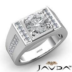 Round diamond   in 14k Gold White