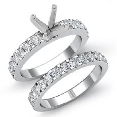 1.2 Ct Round Diamond Engagement Wedding Ring Bridal Sets 14K White Gold Setting